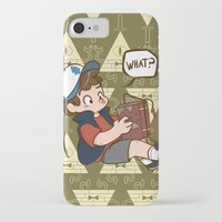 gravity falls iPhone & iPod Cases featuring Dipper Pines - Gravity Falls by BlacksSideshow