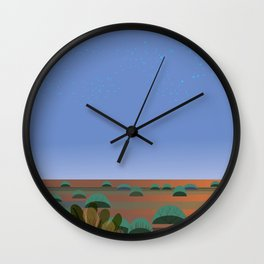 Twilight in the Desert Wall Clock