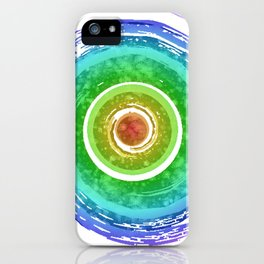 Rainbow Watercolor Spiral iPhone Case