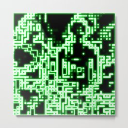 Neon abstract Metal Print