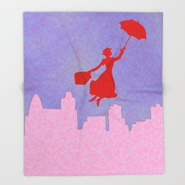 Girlie Miss Poppins  Throw Blanket