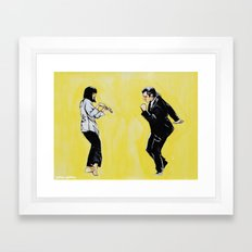 Pulp Fiction 'so dance good' Framed Art Print