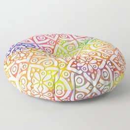 DP050-10 Colorful Moroccan pattern Floor Pillow