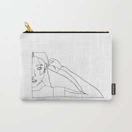 DETERMINED ( ONE LINE ART ) Carry-All Pouch