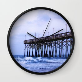 Waves against the Pier Wall Clock