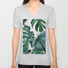 Tropical Palm Leaves Classic II Unisex V-Neck