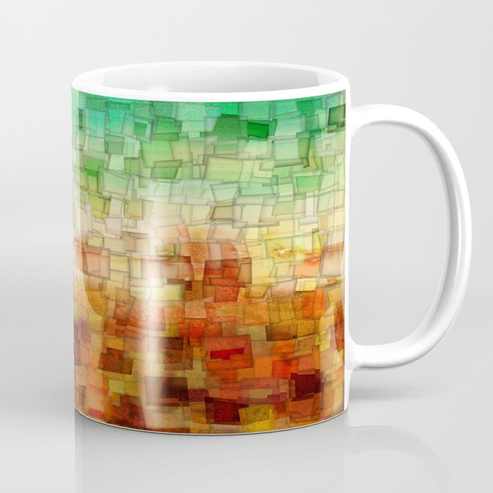 Golden Tide Mosaic Coffee Mug