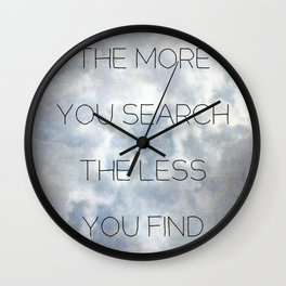 Search & Find Wall Clock