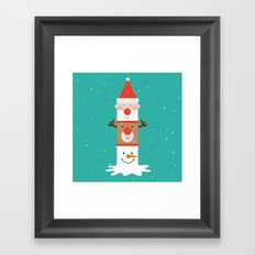 Day 11/25 Advent - Holiday Totem Framed Art Print