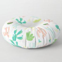 Cactus Ranch Beige Floor Pillow