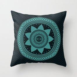 Eye of Protection Mandala Throw Pillow