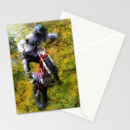 Extreme Biker - Dirt Bike Rider Stationery Cards