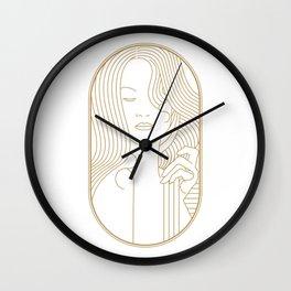 Girl Art Deco 12 Wall Clock