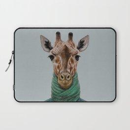 the giraffe in jacket. Laptop Sleeve