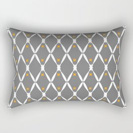 Gray Pattern No. 2 Rectangular Pillow
