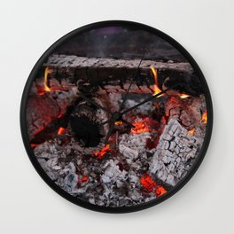 Smouldering Fire Wall Clock