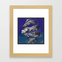 My world is Unraveling Framed Art Print