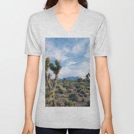 Mountain Joshua Tree | High Desert View Charleston Peak Unisex V-Neck