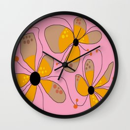 FLOWERY ISADORA  / ORIGINAL DANISH DESIGN bykazandholly Wall Clock