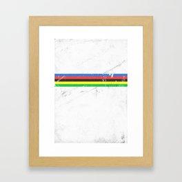 Jersey minimalist cycling Framed Art Print