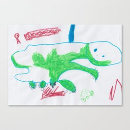 Illustration by my 4yo daughter Canvas Print