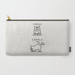 Inhale Exhale Cat Carry-All Pouch
