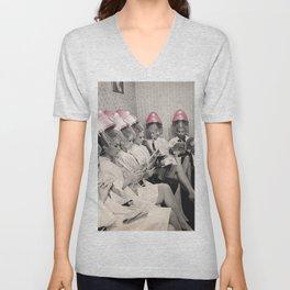 Pink Hair Dryers Vintage Unisex V-Neck