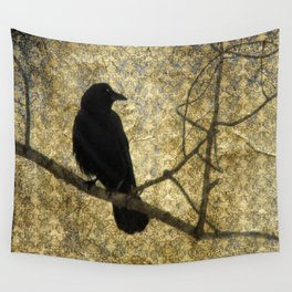 Crow Of Damask Wall Tapestry