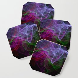 Smooth smoke waves of multiple colors Coaster