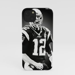 Tom Brady poster, canvas, New Eng-land Patriots for Wall Art Decor, Gym, Home Living, Bedroom, Office Decorations,, mancave with quote iPhone Case
