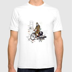 Parisian Dream White SMALL Mens Fitted Tee
