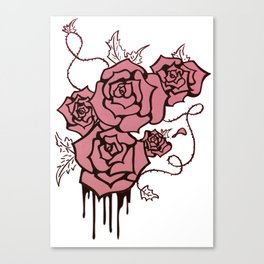 Weeping Roses Canvas Print