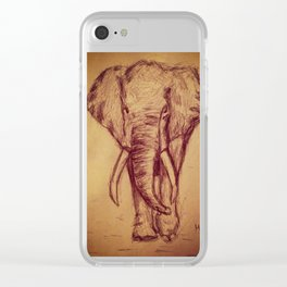 Elephants Never Forget Clear iPhone Case