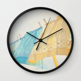 Grandma's Aprons Wall Clock