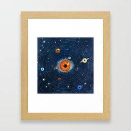 Galactic Eyes Framed Art Print