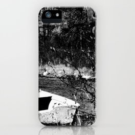 The old forgotten boat in northern Canada iPhone Case