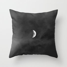 dreaming · moon Throw Pillow