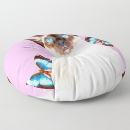 Siamese Butterfly Pink Floor Pillow