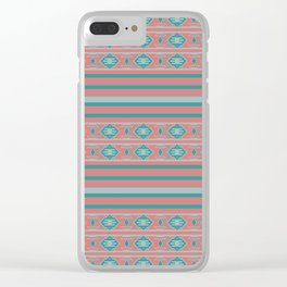 Ethnic Bohemian Style Pattern Clear iPhone Case