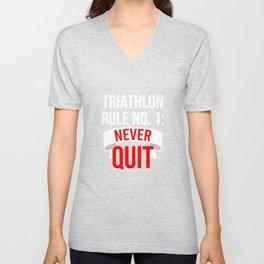 Triathlon Marathon Sport saying gift Unisex V-Neck