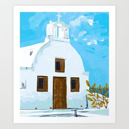 When in Greece Art Print