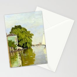 Claude Monet Houses on the Achterzaan Stationery Cards