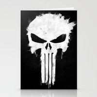 punisher Stationery Cards featuring Punisher White by d.bjorn