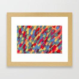 Abstraction flower Framed Art Print