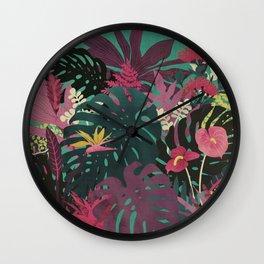 Tropical Tendencies Wall Clock