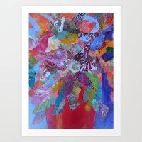 Flower Frenzy Art Print