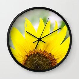 Sunflower in Flushing Wall Clock