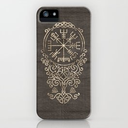 Vegvisir and Tree of life  - Yggdrasil iPhone Case