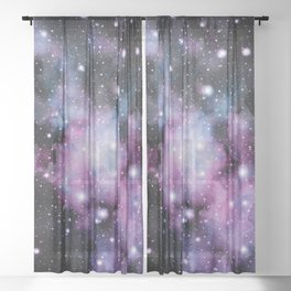 Unicorn Galaxy Nebula Dream #2 #decor #art #society6 Sheer Curtain