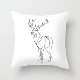 Stag line Throw Pillow